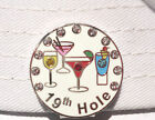 19th Hole Golf Ball Marker with Crystals and Magnetic Hat Clip