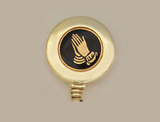 PRAYING HANDS Retractable Reel ID Badge Holder/Key Chain/Security Ring Religious
