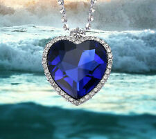 Best Titanic Heart of the Ocean Necklace Deluxe Gift Box Movie Size Pendant T5