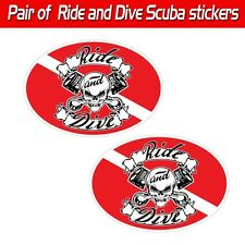 Ride and Dive scuba decal toolbox biker skull graphic mechanic dive sticker evil