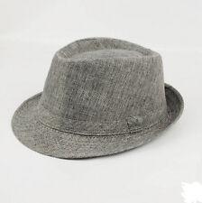 Gray Summer Beach Jazz Hat Sun Panama Gangster Cap Men Women Hot Trilby Fedora