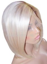 Remy Human Hair Wig Full Lace 10 Short Medium Bob Blonde 60 Brown 8 Roots Moklox