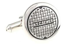 Sewer NYC Cufflinks New York Manhole Cover Wedding Fancy Gift Box Free Ship USA