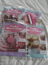 4  DeAGOSTINI CAKE DECORATING  MAGAZINE  HANDBAG CAKE  3D No 70 71 72 & 73  NEW