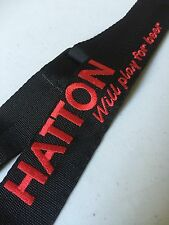 CUSTOM embroidered black webbing guitar strap with your LOGO & Name /band name!!