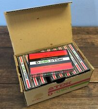 Lot Box Of 10 Vtg 1970s TDK D C90 Cassette Tapes 90 Minute Bulk Erased