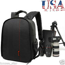 Durable Waterproof DSLR Backpack Case Bag For Canon Nikon Sony Camera Lens AJ US