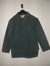 L L BEAN FLANNEL LINED JEAN COAT JACKET