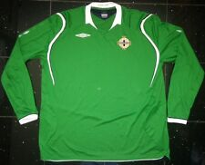 Northern Ireland 2009/10 Umbro Long Sleeved Home Shirt World Cup Windsor Park