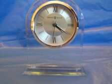 3pt8 NIB HOWARD MILLER QUARTZ ANALOG DESK SHELF ALARM CLOCK REGENT