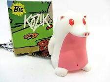 "WHITE w/light pink belly - Heathrow The Hedgehog by KOZIK - 3"" vinyl figure"
