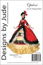 "Opulent Gown Pattern for 16"" Poppy Parker & Tullabelle Dolls Integrity"