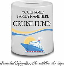 Personalised Cruise Holiday Fund Money Box Savings Piggy Bank