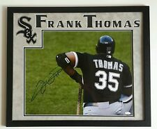 Frank Thomas Signed Autographed 16x20 Chicago White Sox Framed 20x24 JSA