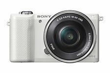 Sony Alpha a5000 Mirrorless Digital Camera with 16-50mm OSS Lens (White)