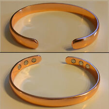 Unisex Pure Solid Copper Bracelet/Bangle For Men/Women With Magnets