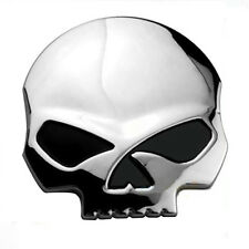 Decal Metal Sticker 3D-Chrome Motorcycle Car Tank Emblem Badge Skull Bone Devil