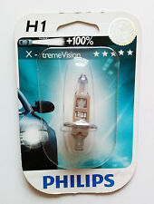 1 X PHILIPS X-TREME VISION +100% H1 12V 55W 12258XVB1 (SINGLE)