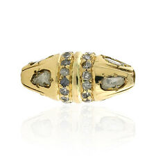 18kt Solid Yellow Gold 0.47ct Diamond Designer Bead Spacer Finding Jewelry