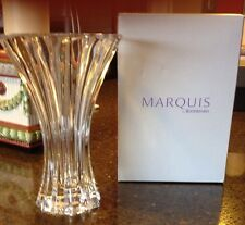 "Marquis by Waterford 7"" Clear Crystal Elliston Vase, New in Box"