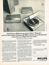 PUBLICITE  1970   PHILIPS   chaine hi-fi DIAMANT