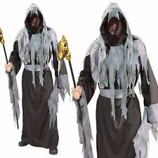 Horror Death Robe Grim Reaper Phantom Ghost Halloween Mens Fancy Dress Costume