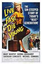 Live Fast Die Young Poster 01 A3 Box Canvas Print
