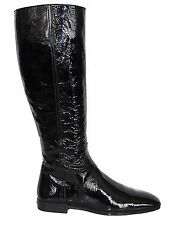 HOGAN BY TOD'S BLACK PATENT LEATHER BOOTS Sz 6.5