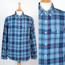 Homme old navy bleu motif carreaux chemise col boutonné de style oxford l