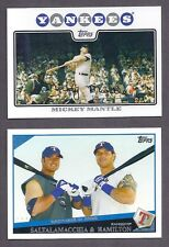 2008 2009 TOPPS LOT COMPLETE YOUR SET & INSERTS & GOLD 20 PICKS
