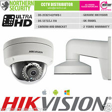 HIKVISION DS-2CD2142FWD-I 2.8mm 4MP WDR Dome telecamera IP & SUPPORTO