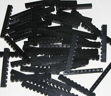 LEGO LOT OF 50 BLACK 1 X 10 BRICKS BUILDING BLOCKS PIECES