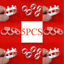 5pcs wholesale Jewelry Fashion 925 silver Mixed size rings for women N-55