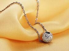 925 sterling silver necklace pendant round circle ball pendant for women jewelry