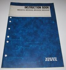 Instruction Book Volvo Penta MD 2010 / 2020 / 2030 / 2040 Betriebsanleitung 2000
