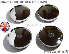 4x CHROME CENTRE CAPS 60mm Alloy Wheel VW Golf Audi bmw UNIVERSAL CENTER -UK