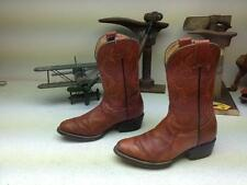 COGNAC OSTRICH TIP LEATHER DISTRESSED WESTERN COWBOY ENGINEER BOOTS 22-5-4-5