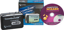 USB Cassette Tape Converter Player + Cassette Tape To MP3 & CD Wizard Software