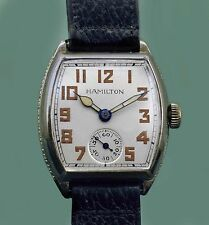 Vintage 1940 HAMILTON  Antique Men's 14k White GF Watch