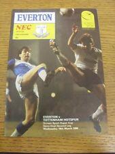 19/03/1986 Football League Super Cup Semi-Final: Everton v Tottenham Hotspur  (S