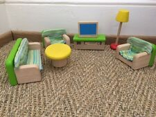 Charming Pintoy Dolls House Living or Sitting Room Furniture