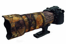 Nikon 70 200mm f2.8 AFS ED VR Mk II Neoprene lens camo cover English Oak