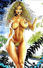 CAVEWOMAN BUDDS BEAUTIES AND BEASTS #2 Blonde Medusa Special Edition Nude NM New