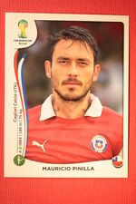 Panini BRASIL 2014 N. 162 PINILLA CHILE WITH BLACK BACK TOPMINT!!