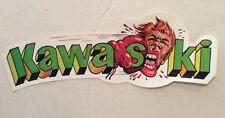 NOS Vintage Decal Sticker Kawasaki Kawa Saki 70s Bobber Motorcycle Funny Bike