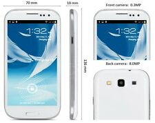 BIANCO Samsung s3 in stile 9300 3g GSM Dual 2 SIM GRATIS 16gb Smartphone Android 4.1