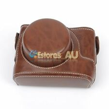 Camera PU Leather Case Bag Cover Pouch For Canon PowerShot G1X Mark II M2 Coffee