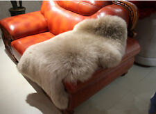 Genuine Real Australian Single One Pelt Sheepskin Light Brown 2x3 Rug Lamb Rug