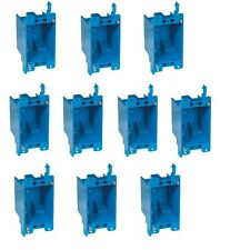 """10-Pc 14"""" Single-Gang Wall Outlet Switch Old-Work Plastic Electrical Box Remodel"""