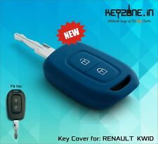 Keyzone Silicone Car Key Cover fit for Renault Kwid remote key (blue)